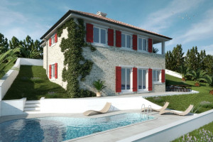 NOVALJA- JAKIŠNICA-NECK STONE VILLA WITH POOL AND OPEN SEA VIEW ( LOCATION ) !!!