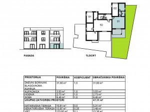 Sukošan, novogradnja, jednosoban apartman s vrtom